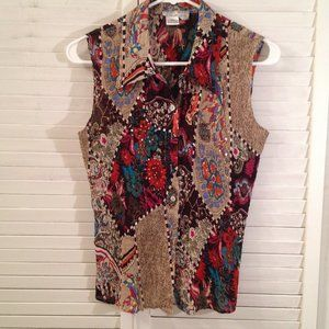 Alberto Makali L Stretchy Colorful Summer Tank Top
